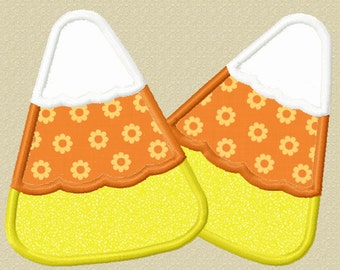 Instant Download Halloween Candy Corn Applique Machine Embroidery Design NO:1190