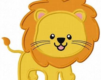 Instant Download Lion  Applique Machine Embroidery Design NO:1261