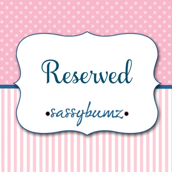 RESERVED LISTING FOR: Courtney