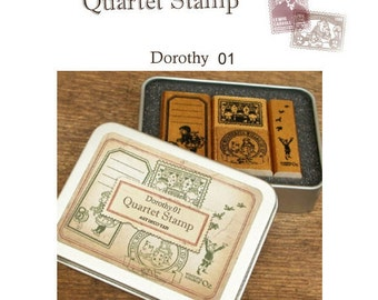 The Wizard of OZ -Dorothy  ver.01 Rubber Stamp Set of 4ea **