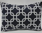Navy Blue Decorative Pillow Cover 12x16