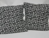 Designer Pillow Cover Pair 20 inch Black and White