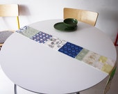 Patchwork table runner in spring colours