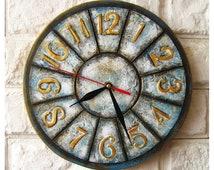 The Shabby Chic Blue Grey Wall Clock, Home Decor