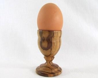 Egg Cup Handcrafted on Wood Lathe Beautiful Hardwood