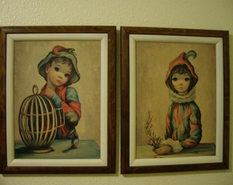 Maio Big Eyed Mardis Gras Boy and Girl Wall Art
