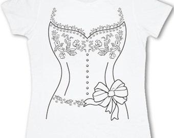 Ladies wedding dress T-shirt