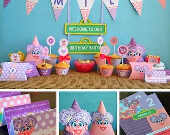 Abby Cadabby Party Supplies, Abby Cadabby Birthday Printables, Abby Party Supplies, Abby Cadabby Birthday Banner, Abby Cadabby Party Decor