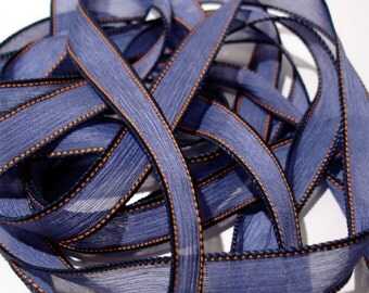 """New Jeans  42"""" hand dyed wrist wrap bracelet silk ribbon//Yoga wrist wrap bracelet ribbons//Silk wrist wrap ribbon// By Color Kissed"""