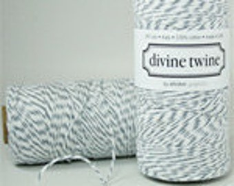 240 yards of DIVINE Twine-Oyster (Gray and White)