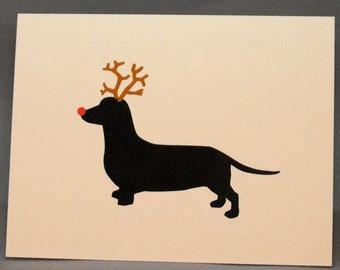 Dachshund Dog Christmas Card Set Doxie Holiday Cards