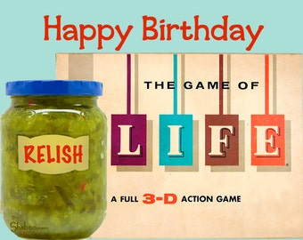 Unique and Funny Birthday Card: Relish Life