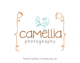 Premade Logo Design - Customized Premade Logo  -  Photography Logo and Watermark