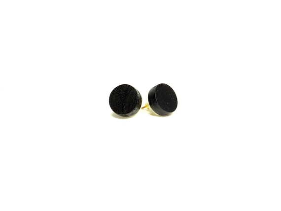 small wood studs, post earrings, black wood earrings, wooden studs, wood earrings post earrings