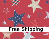 "Riley Blake Designs ""Stars & Stripes"" 1 yard FREE SHIPPING"