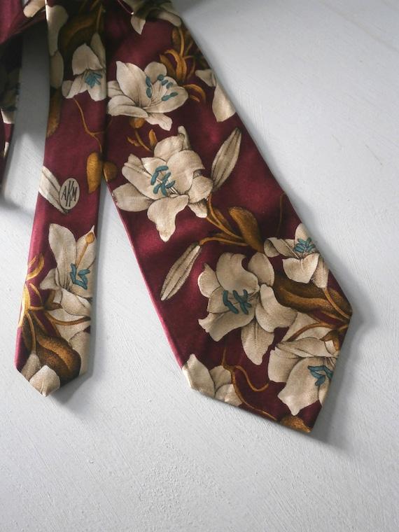 AkM Vintage Men's Neck Tie Tiki 40s 50s Madmen