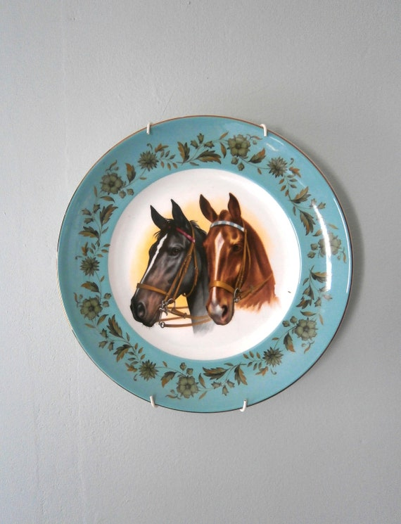 Vintage Horse Plate Equestrian