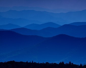 blue ridge mountains from the top of the blue ridge parkway, north carolina, 2012