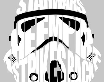 "Star Wars Stormtrooper Word Art 11"" x 14"" Print"