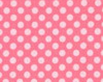 SALE Michael Miller Petal Pink Ta Dot 1/2 yard cut