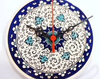 dinner room blue clocks for her