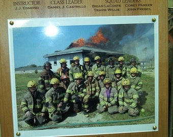 "FIRE DEPT Photo Plaque  12"" x 15"""