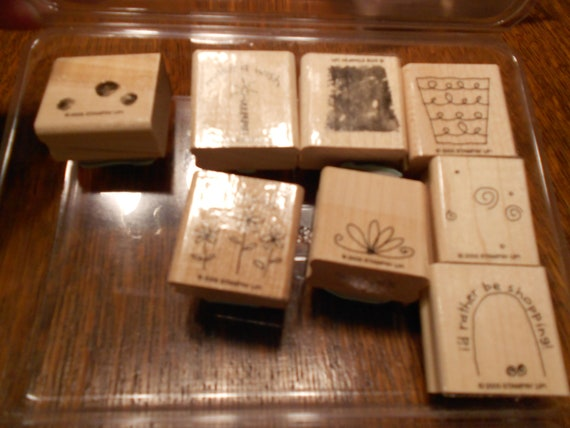 Stampin' Up Fun Filled Set of 8 Rubber Stamps