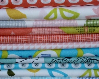 Monaluna Organic Fabrics Havana Collection Sixteen Piece Fat Quarter Yard Bundle