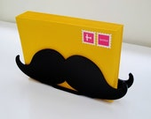 Desk Accessories, Desk Accessory, Mustache Letter Holder, Organization, Home Organization, Desk Storage, Storage, Mustache Gift