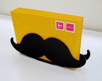 Desk Accessories, Desk Accessory, Mustache Letter Holder, Organization, Home Organization, Desk Storage, Storage, Mustache Gift