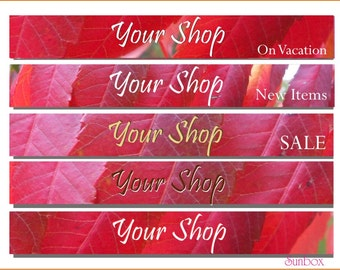 Your Shop Banner. Beautiful Red Leaves. Autumn Leaves. Wine Red.