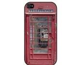 Antique London British Phonebooth iPhone 4, iPhone 4 case, iPhone 4S case, iPhone cover, iPhone hard case