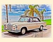 Mercedes Benz 1964 220SE Cabrio, Car Art - Fine Art Photography Print Picture