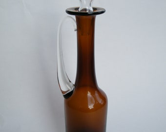 Liquor Decanter with Stemmed Glass