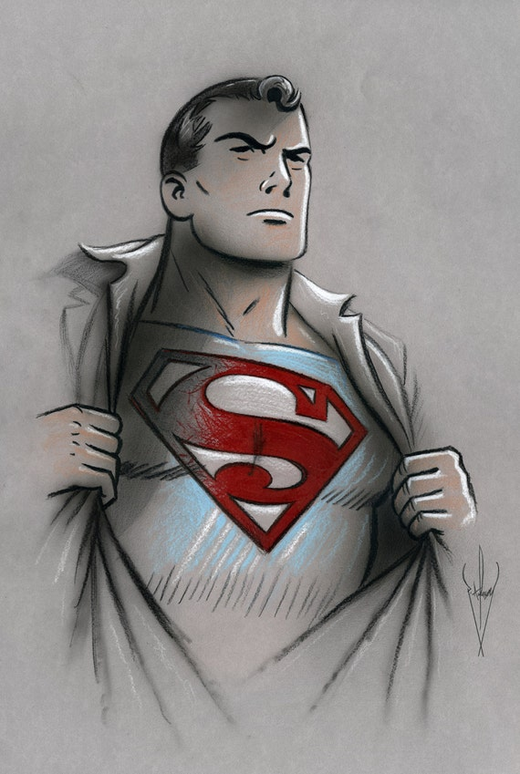 Superman Pencil Drawings Style Superman Pencil