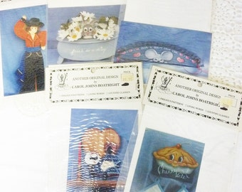 Vintage Tole Painting Patterns by Carol Johns Boatright New Dimensions Set of 5 Never Used Unopened