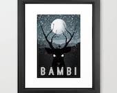 Disney's Bambi Minimalist Poster