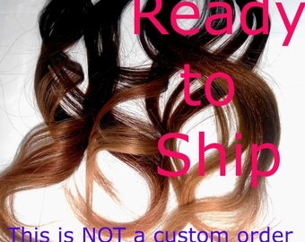 Ready to Ship- Ombre Effect- Weft Clip - Tri Tone -Klhoe Kardashian Inspired -18inch Remy Real Human Hair