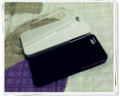 IPHONE 5 COVER. Iphone 5 case.DIY iphone 5 case stuff.3 pieces.white black clear.