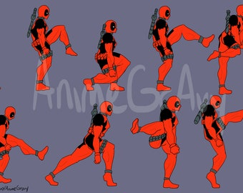 """17x11"""" Deadpool and the Ministry of Silly Walks"""