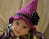 Crochet Witch's Party Hat - 4 Sizes PATTERN ONLY