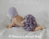 Crochet Tutu Cute Hat and Tutu Diaper Cover Photo Prop Set - 2 Sizes - PATTERN ONLY