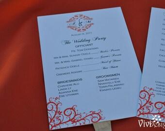 Unique Fan Wedding Program