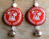Lagunitas Beer Earrings - Ready for Christmas Holidays