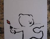 "Set of 5 Banksy Graffiti Blank Cards 4.25""x6.25"""