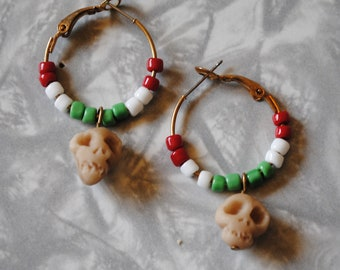 Day of the Dead skull hoops