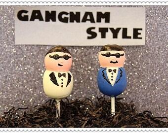 Gangnam Style Cake Pops