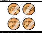 Vintage Ouija Game Board One Inch Circles Glass or Bottlecap Pendant Size Digital Collage Sheet Halloween