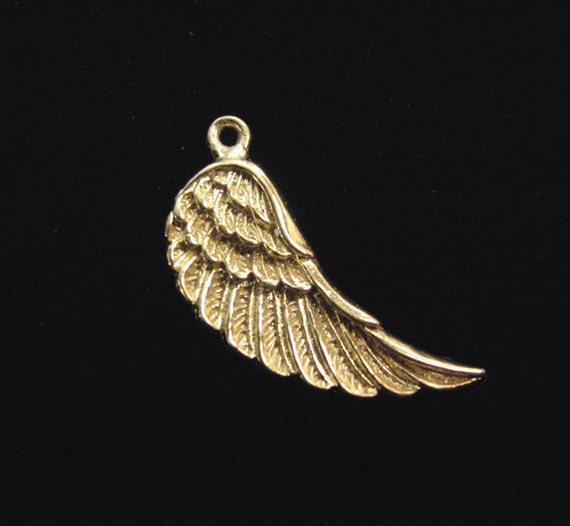 Large Vermeil Wing Charm 23 x 16.5 mm Angel Wing CH217L