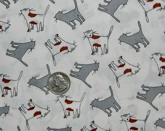 The Neighborhood Cat - Fabric By The Half Yard 18 inches x 44 inches